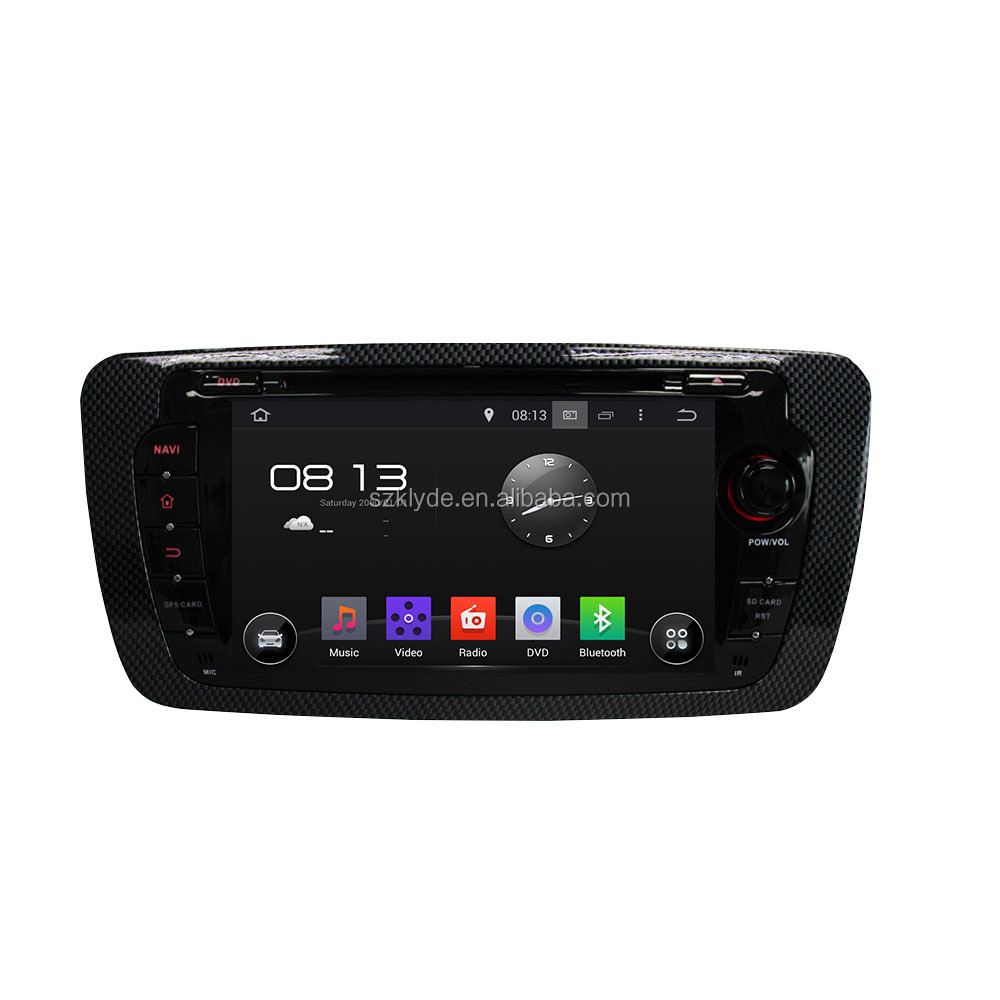 Android 5.1 system car dvd for Seat IBIZA 2013 HD 7 inch screen Optional Parrot bluetooth and DAB+