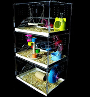 Custom 3 layer acrylic hamster cage wholesale with available price