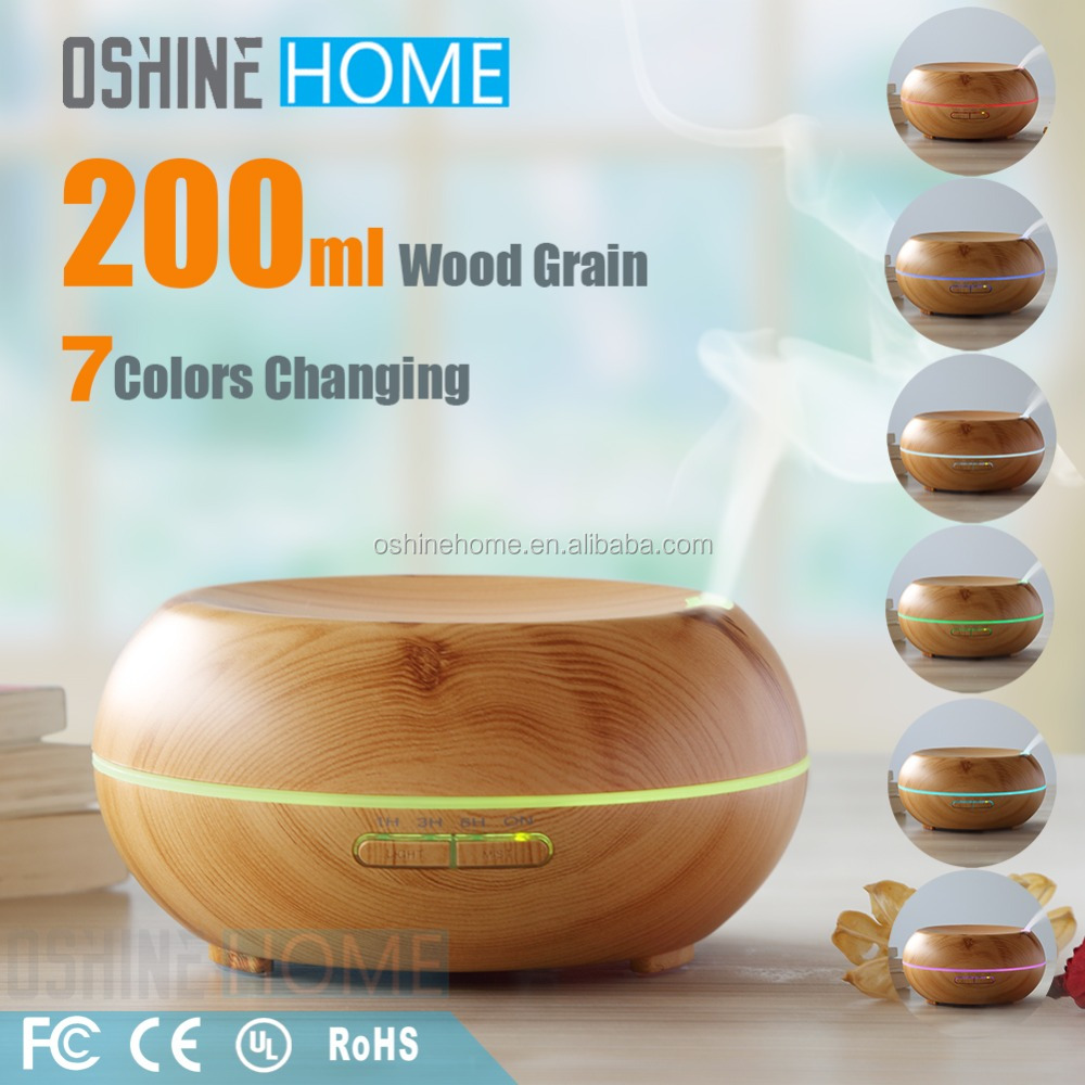 Wood Grain Portable Room Electric Air Purifier Aromatherapy Cool Mist Ultrasonic Humidifier Aroma Essential Oil Diffuser