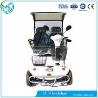 Handicapped 500W 2seats powered mobility scooter with roof