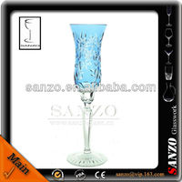 colorful saucer glass champagne