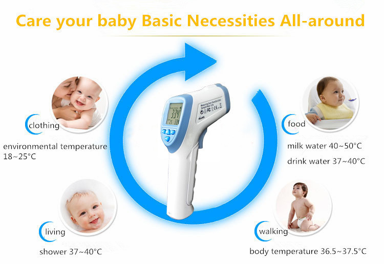 Infrared thermometer High quality Non Contact body thermometer temperature equipment Handheld digital baby thermometer DT8836