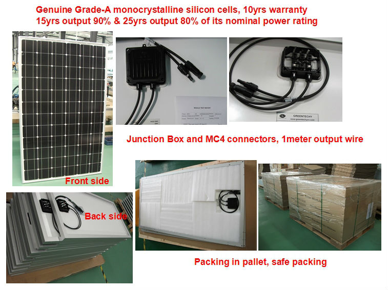5000w solar energy home system with battery, solar panel, controller, inverter