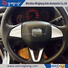 ABS Chrome Steering Wheel Trim Cover For Honda City 2015 Car Accessories