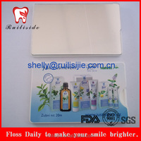 silk waxed mint card dental floss with logo
