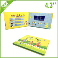 factory supply audio 4.3 lcd video greeting cards with 1GB
