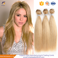 Double Drawn Piano Blonde Color 3 Bundles Virgin Malaysian Straight Remy Human Hair Extension