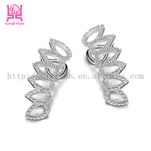 small 925 sterling silver palm tree earrings