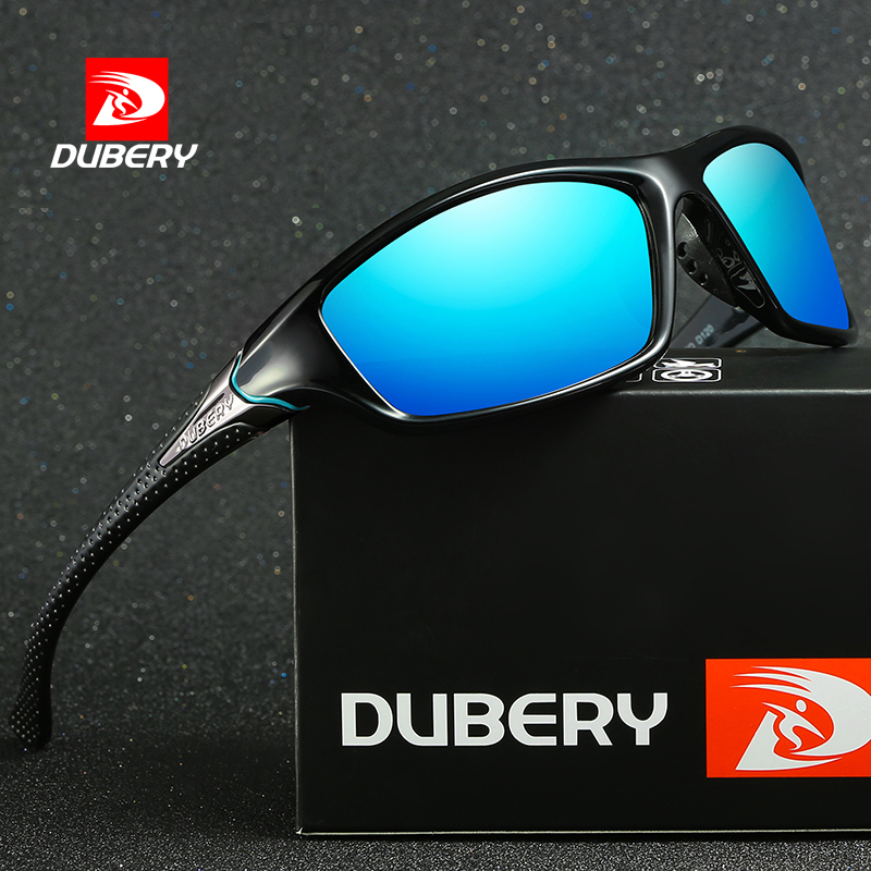 DUBERY <strong>D120</strong> Fashion Rectangle Extreme Sport Polarized Sunglasses Men High Quality with Case