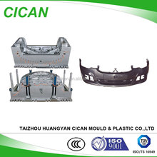 Huangyan factory auto pats cars front bumper plastic injection mould making