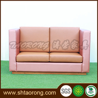 Custom made modern American style pink leather sofa