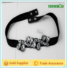 Wholesale crystal decorative elastic stretch belt