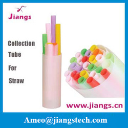 jiangs veterinary colorful livestock flexible/favorable semen straw collection catheter for cow