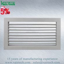 high quality aluminum single double deflection supply air filter diffuser grille
