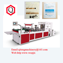 Zipper Bag Making Machine for PP PE bag with Auto Zipper Slip Function