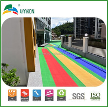 extremely soft texture safety green recyclable runway sport flooring tiles vac-252513