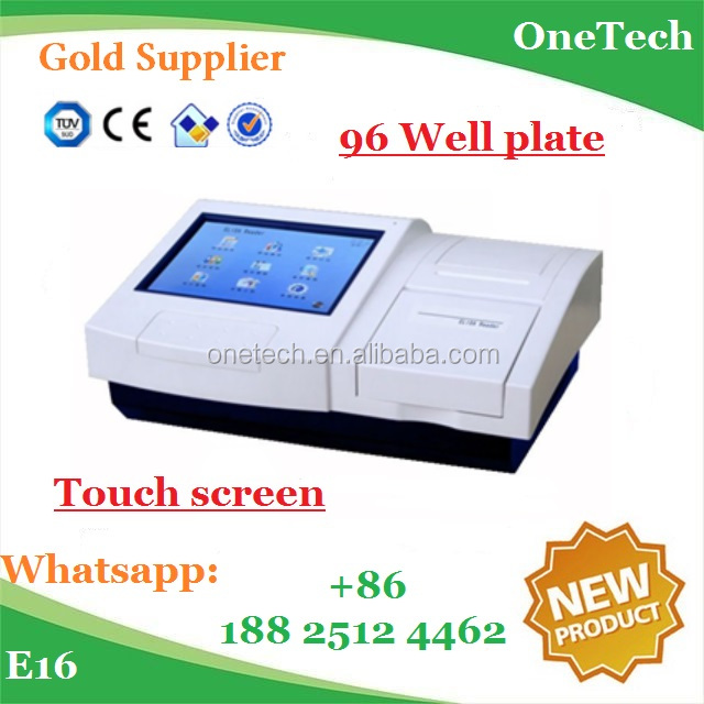96 well cell culture plates blood test machine / Accurate PC system auto calibration touch microplate elisa reader priceE16
