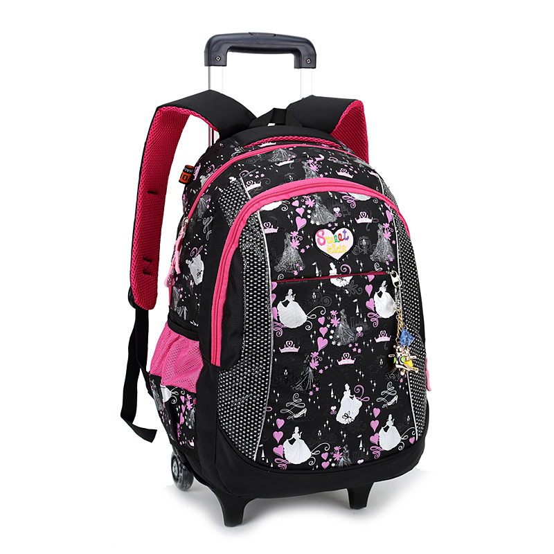 Best Selling High Quality Cheap Waterproof Student Bag Kids Trolley School Bag