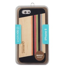 Lowest Wholesale Price!Fashion Handmade Cell Phone Cover For Apple iphone6 Nature Wood Manufacturer