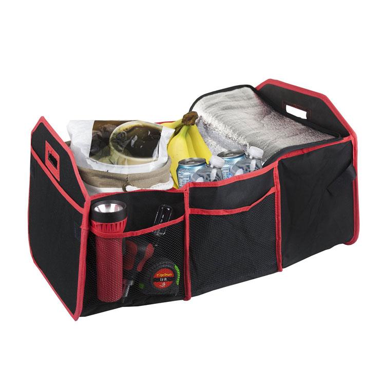 Folding car trunk organizer with cooler bag 4