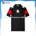 wholesale polo shirt with red pattern sleeves custom starlike men polo shirt free sample polo shirt