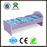 Best Sell customize children bedroom furniture/kindergarten kid bed/solid wood toddler bed/ QX-197E