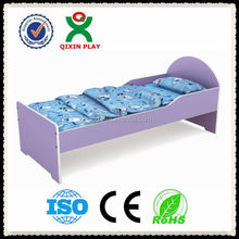 Best Sell customize children bedroom furniture, kindergarten kid bed, solid wood toddler bed QX-197E