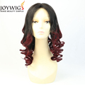 Big sales 10A loose wave T color Red wine Glueless Indian Human Hair Full Lace Wig