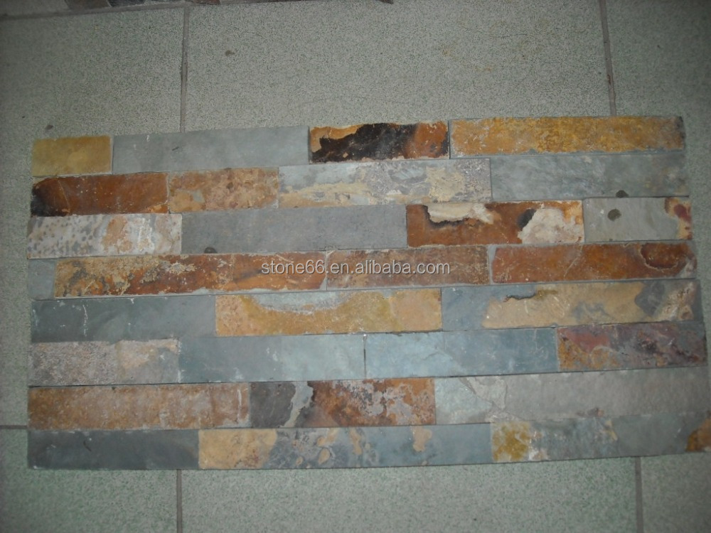 stone veneer natural rustic slate wall cladding stone for exterior wall (culture stone)