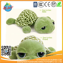25cm soft plush big eyes turtle toy wholesale