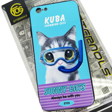 Charming cat mobile phone case for ip6 3D silicone cat phone case