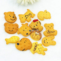 kawaii resin animal shaped biscuit for kids phone clothing resin accessories