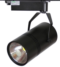 COB 2 / 3 / 4 wires commercial black colour lighting fixture high quality dimmable 30w cob led track light