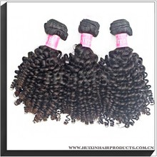 No shedding wholesale brazilian unprocessed hair weft/ spiral curly wholesale virgin indian hair weft/ micro braid weft hair