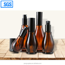 China glass bottles Manufacturer customer logo printing amber glass 50ml perfume bottle 15ml 30ml 100ml
