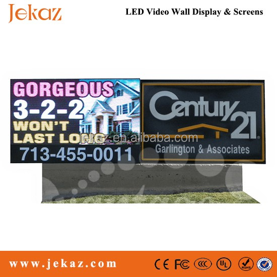 Jekaz 6ftx3ft outdoor P10 DIP adveritising led sign single side/two sides front open led display sign