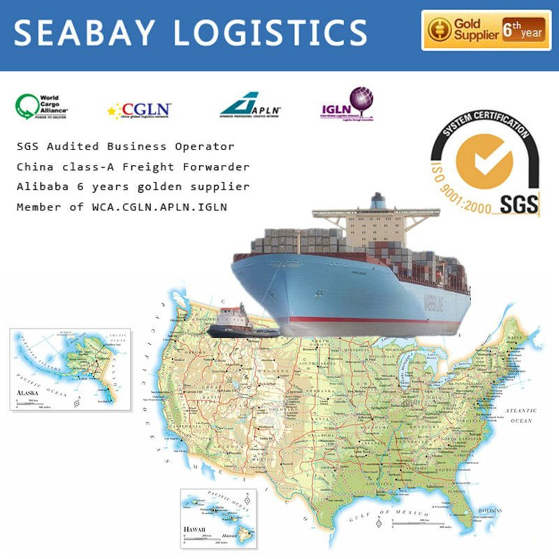 High reliable sea shipping container transportation price to oakland