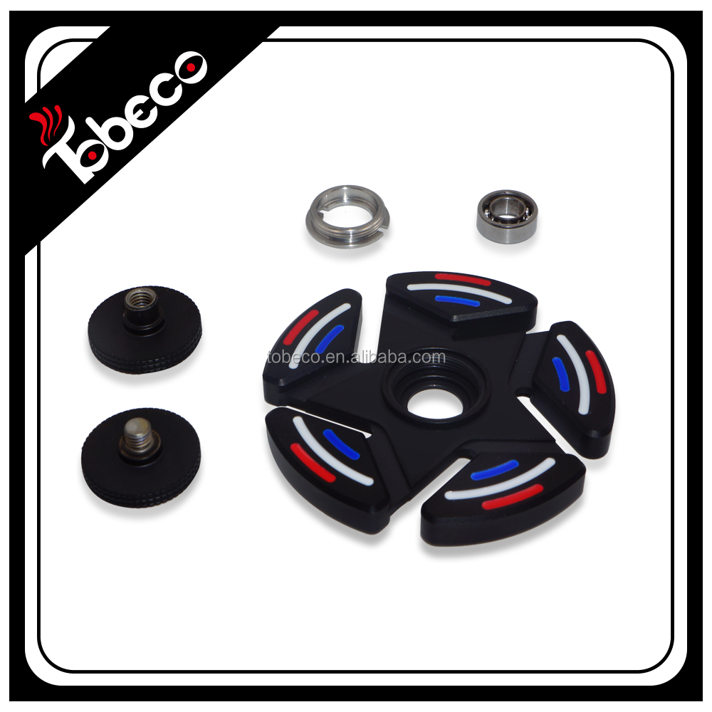 Hot selling spinner with high speed bearings,colorful Tobeco stainless spinner/rainbow/black toys