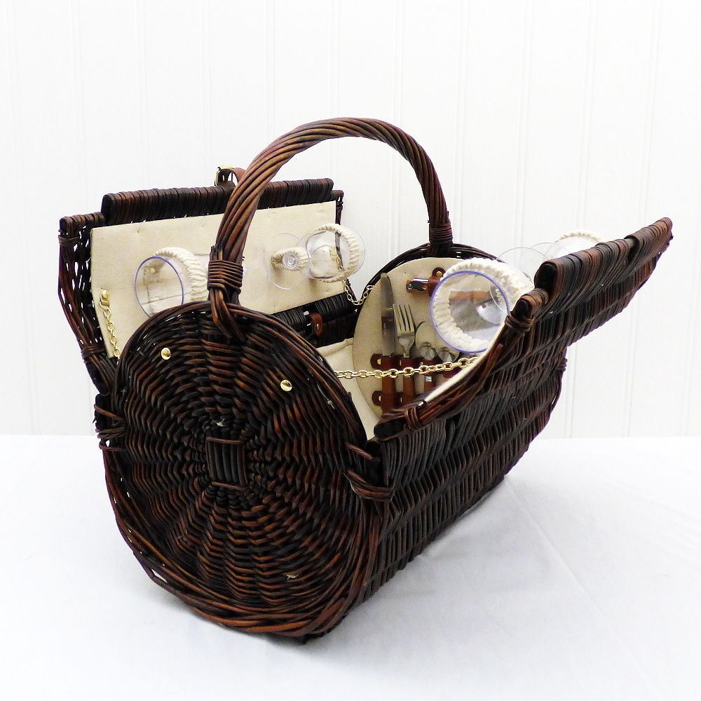 Hanging Wholesale Picnic Food Hamper Wicker Cone Easter Baskets