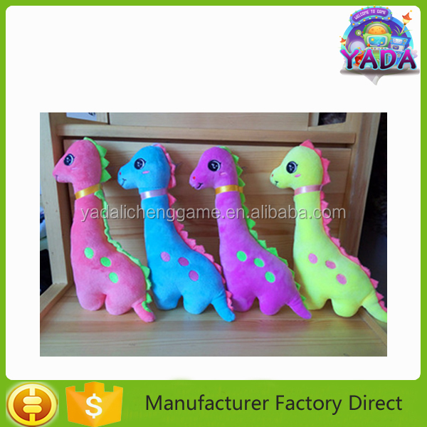 Custom colorful baby dinosaur stuffed plush toy doll for crane claw vending game machine