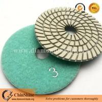 3 steps diamond polishing pad, polishing abrasive for stone marble and granite