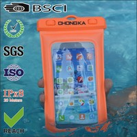 mobile phone 5.5 inches pvc waterproof bag for iphone 6 plus
