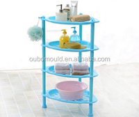 Durable plastic bathroom shortage shelf injection mould