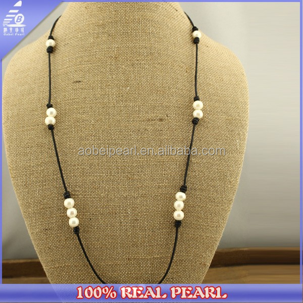 Fashion Jewelry 2015 Real Pearl Statement Necklace Beads Pearl Necklace