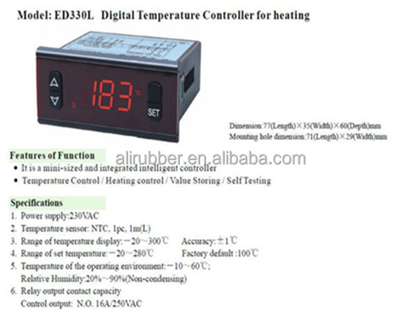 ED330 Heating Element Digital Temperature Cotroller
