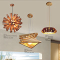 Contemporary Type and Cement+Wooden Material Wooden Pendant Lamp