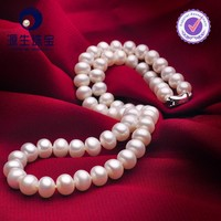 fashion hyderabad pearl with freshwater peral near round white color