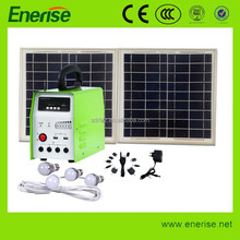 6-50W portable generator solar panel products / solar kit with led light bulb