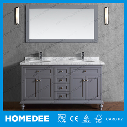 stylish bathroom cabinet stone surface stock