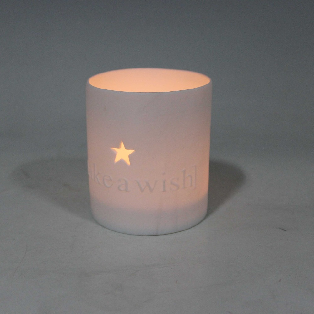 Wholesale ceramic decorative tealight Candle jar